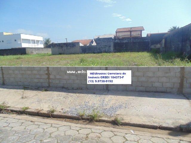 terreno para venda no bairro Mar e Sol em Peruíbe